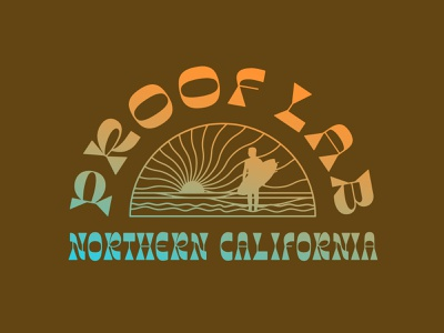 Proof Lab Concept #2 funky groovy california surfing vector typography graphic retro illustration branding design vintage lettering logo