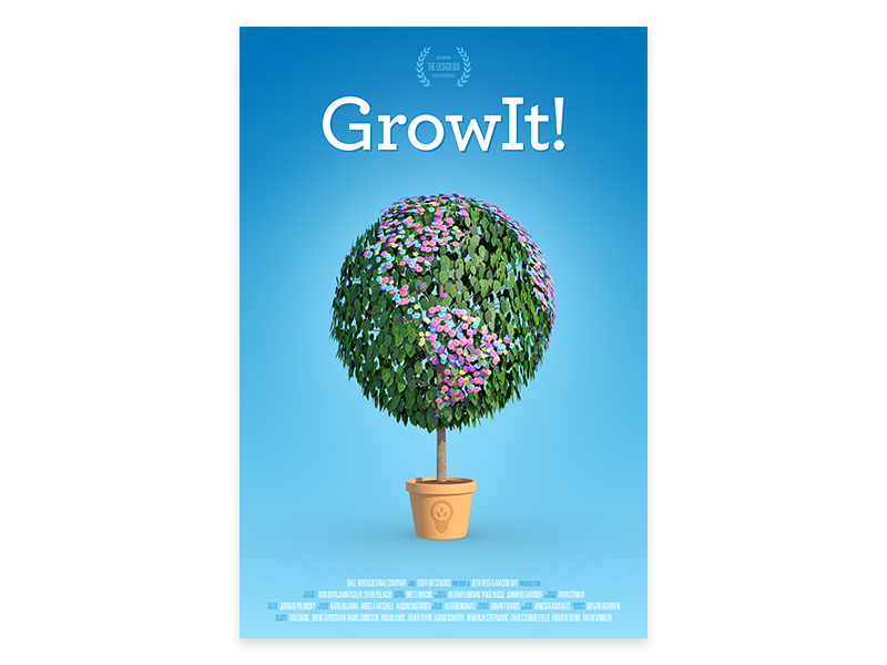 GrowIt! Poster garden movie 3d leaves tree plant poster