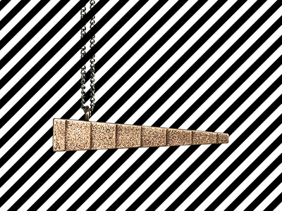 Balance minimal geometric pendant necklace fashion jewelry product photography