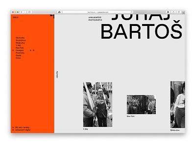 jurajbartos.com design documentary 80s portfolio photography minimal brutalist screen uxui web design