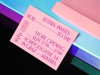 Sestra invitation backside + envelope