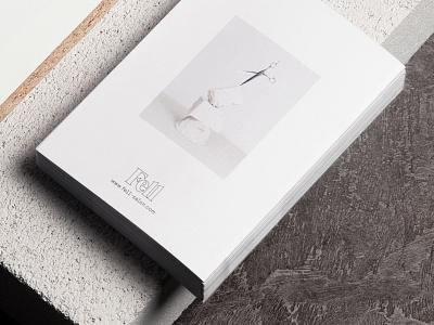 Fell Salon lookbook backside editorial minimalism minimal white friseur branding transparent hair fashion