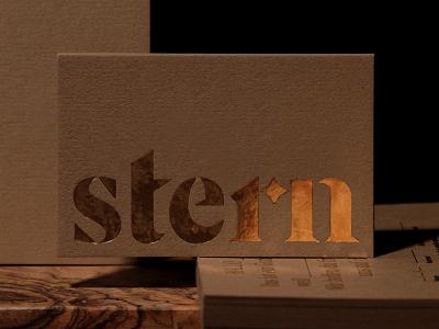 Stern collateral logo identity branding restaurant bar colorplan foil stamping hot foil gold letterpress print stationery