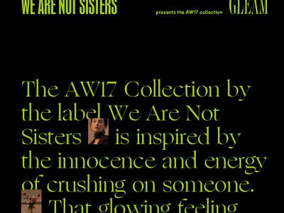 We Are Not Sisters AW17 edgy editorial typography custom type clothing womenswear print minimal lookbook slovakia fashion