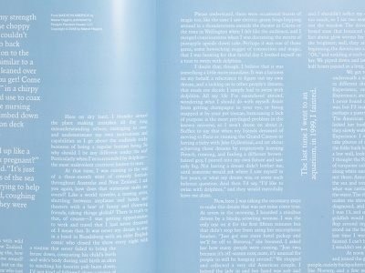 Gossamer Vol.2 Spread magazine layout editorial