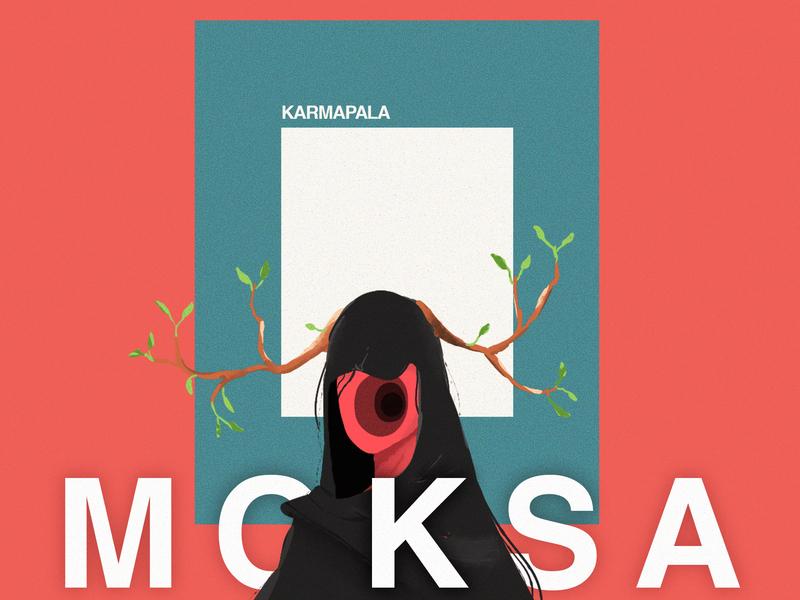 Moksa collage typography creative illustration popart design character