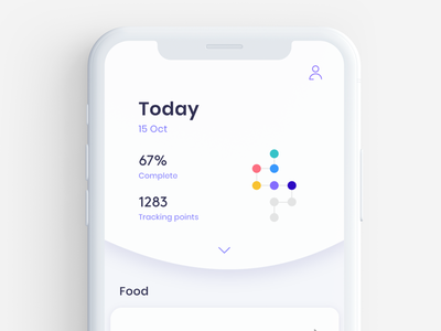 cara care mockup  1 tracking app tracking eat digest digestion ux design app illustration ui