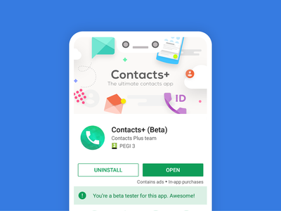Feature Graphic Cplus contacts plus illustration ui contacts google play feature graphic app