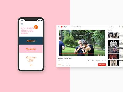 Leadership branding leadership ui design app