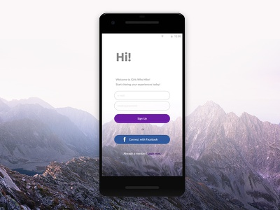 Sign Up Screen android app sign up screen dailyui dailyui 001
