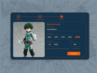 Daily UI challenge #002 — Credit Card Checkout credit card payment credit card form manga daily art daily002 dailui