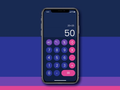 Daily UI Challenge Day #004 Calculator vibrant colors iphone calculator ui dailyui004 dailyui daily challange