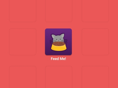 Daily UI Challenge #005 - App Icon food cat dailyui005 dailyui daily challange app icon