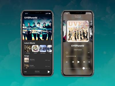 Daily UI Challenge #009 - Music Player music band music player music player app music player dailyui009 dailyshot