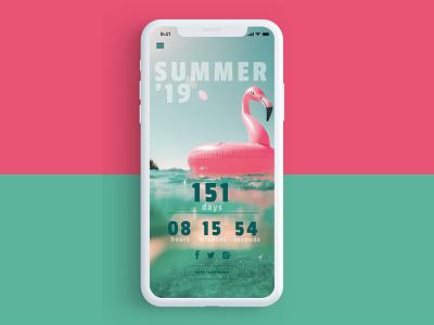 Daily UI Challenge #014 - Countdown Timer summer party countdown timer timer time countdown dailyui014 daily 100 dailyiu