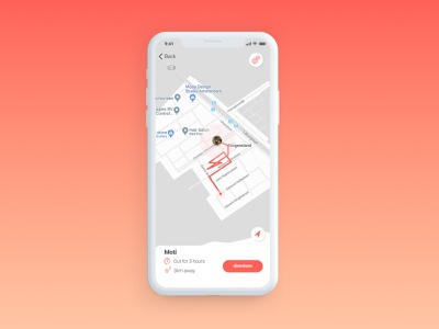 Daily UI Challenge #020 - Location Tracker pet care pet app cats tracker location tracker location app dailyui020 dailyui