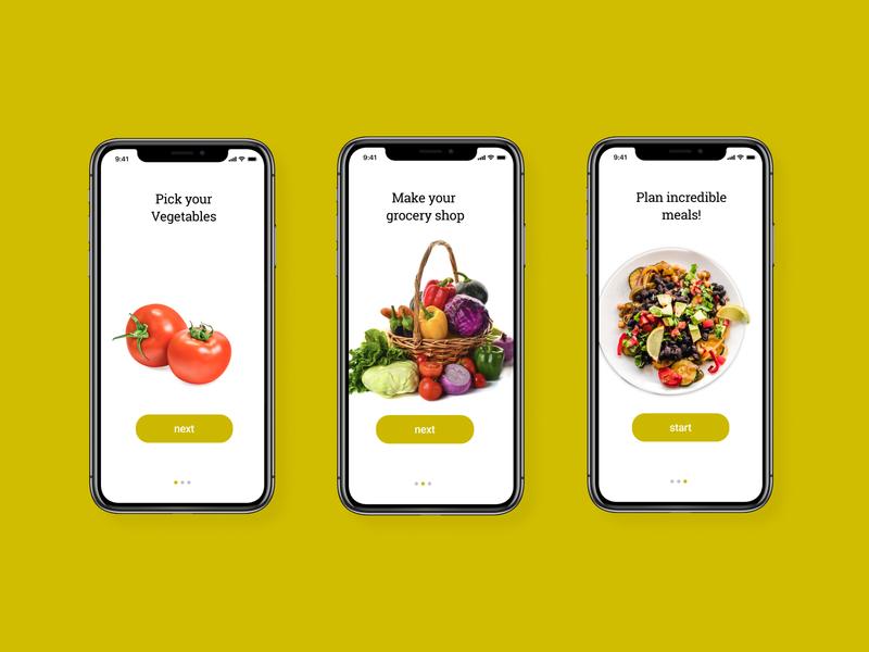Daily UI Challenge #023 - Onboarding food app food daily023 dailyui onboarding screens onboarding