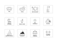 Hotel Amenities Icons