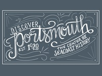Discover Portsmouth logo concept
