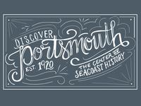 Discover Portsmouth logo concept