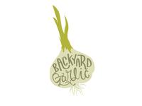 Backyard Garlic logo concept