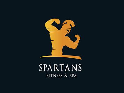 Spartans fitness & spa logo typography concept branding gradient beautiful simplicity vector graphic attractive illustration color modern logo design