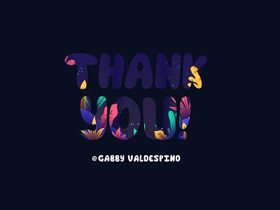 Thank you! design vector illustration