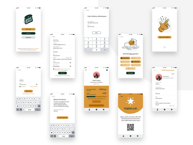 Ekmek Torbası UI Design design graphic uidesign ui