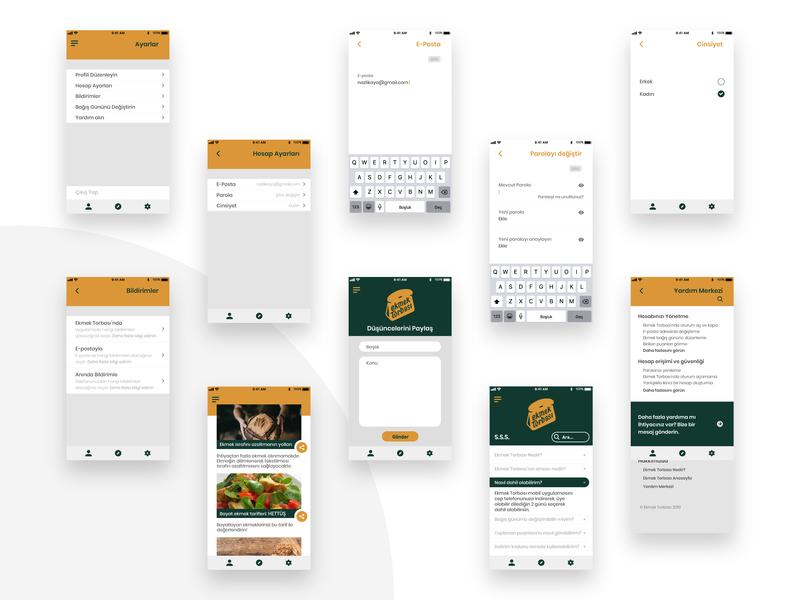 Ekmek Torbası UI Design graphic uidesign ui design ui