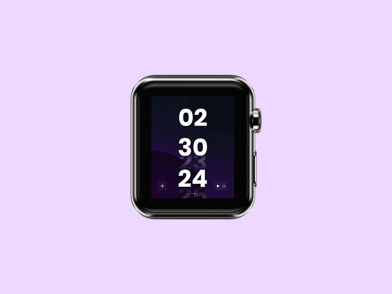 Day #014 | Countdown Timer vector apple watch timer dailyui014 dailyuichallenge dailyui