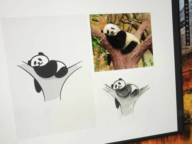 Panda Illustration🐼 turkey istanbul illustration art illustraion illustrator design panda bear vectorart drawings panda vector