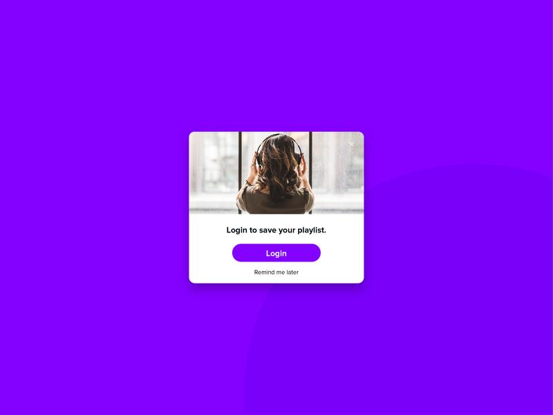 Day #016 | Pop-Up / Overlay daily ui app vector day016 dailyuichallenge dailyui