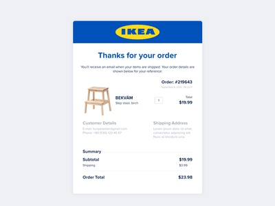 Day #017 | Email Receipt