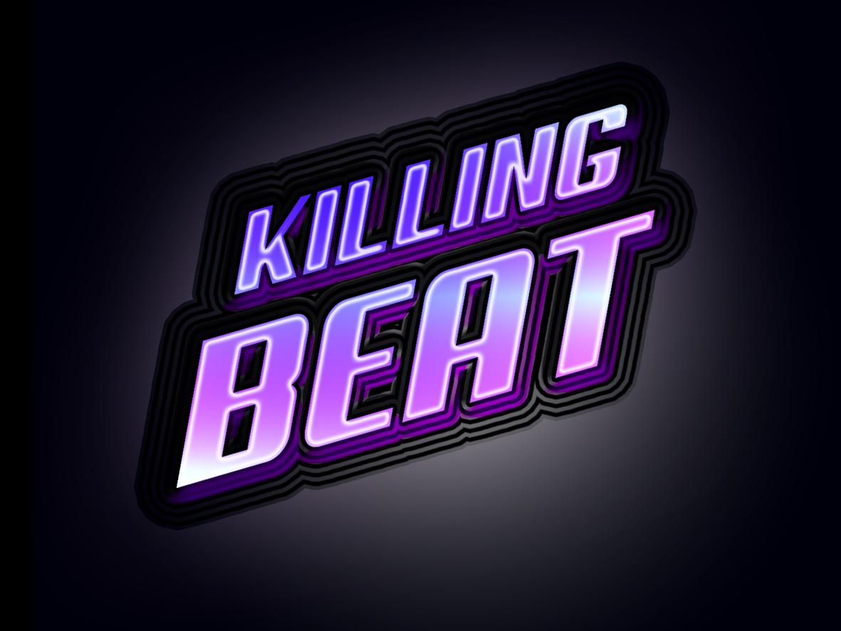 Killing Beat Game Logo ui 2d game-art vector design logo illustration
