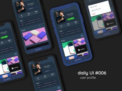 user profile | Daily Ui #006