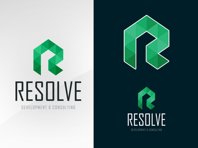 Resolve identity branding design logo