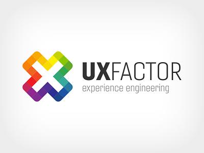 UX Factor logo ui identity branding design