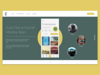 Landing Page Social