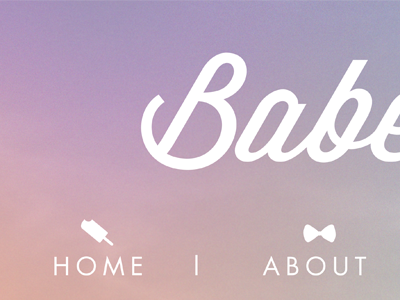 Babe Sicle icons popsicle bow tie blog header