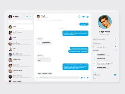 Daily UI #013 -  Direct Messaging figma blue flat web design web chat app direct messaging chat 013 daily ui 013 daily ui