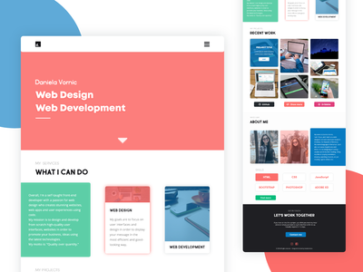 Daily UI #003 — Landing Page typography minimal abstract flat landing page daily ui 003 web design web developer portfolio design header design illustration dailyui ui adobe xd