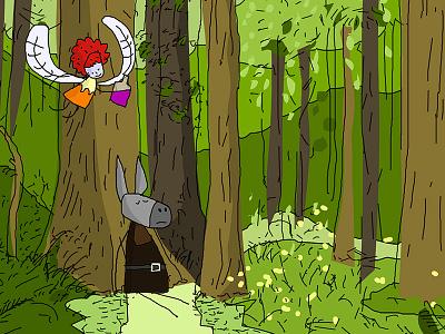 Finally, something I can show! midsummer night dream bottom fairy forest shakespeare