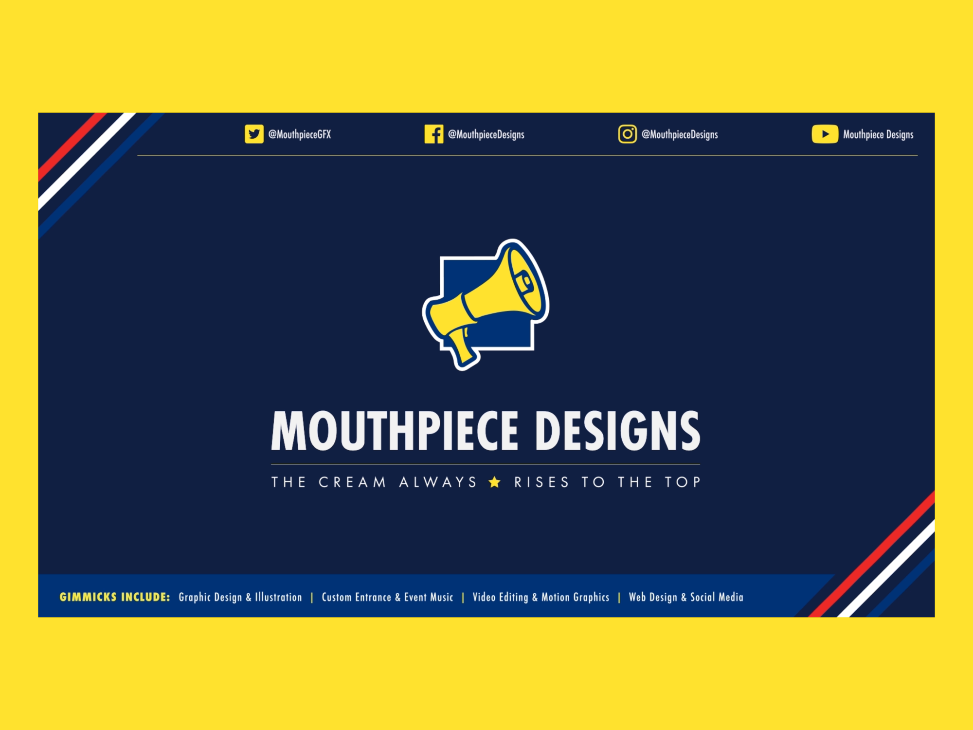 Mouthpiece designs   animated logo card