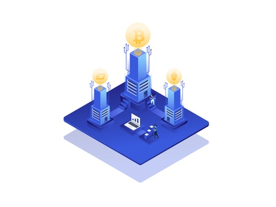 cryptocurrency isometric