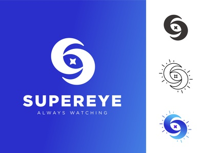 SUPEREYE LOGO ( S + Moon + Eye)