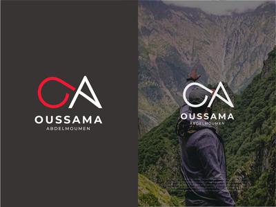 Oussama Abdelmoumen (OA Monogram professional logo business logo people logo design monogram trainer personal branding personal logo logomark branding modern logo