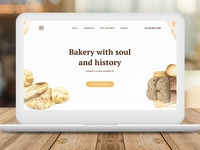 """Web design for the bakery """"Your bread"""""""