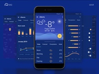 Weather UI/UX app design