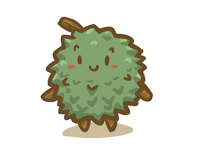 Durian Fruit vector character illustration fruit durian