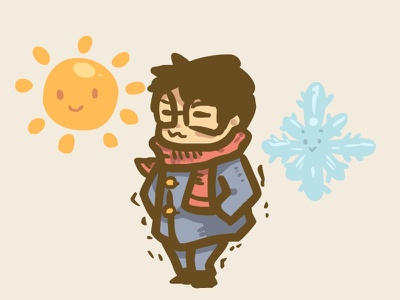 Cold Summer illustration cold winter stickermule summer
